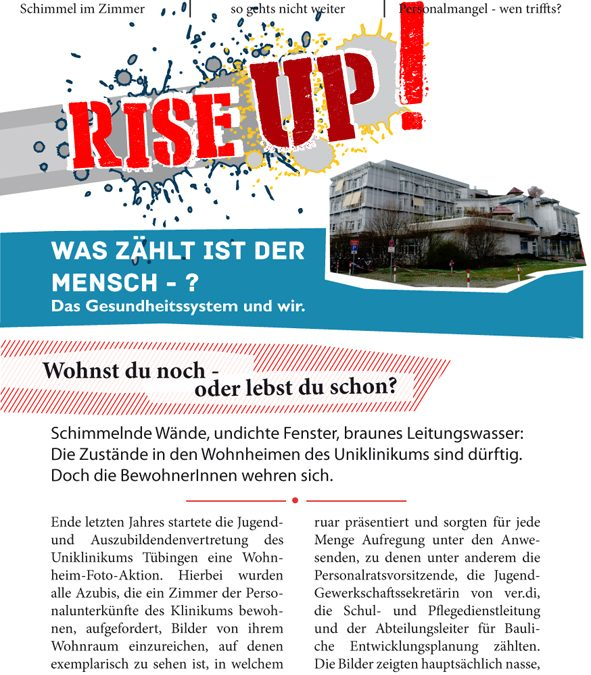 #1 riseUp! // Erste Nummer unserer Kleinzeitung erschienen!