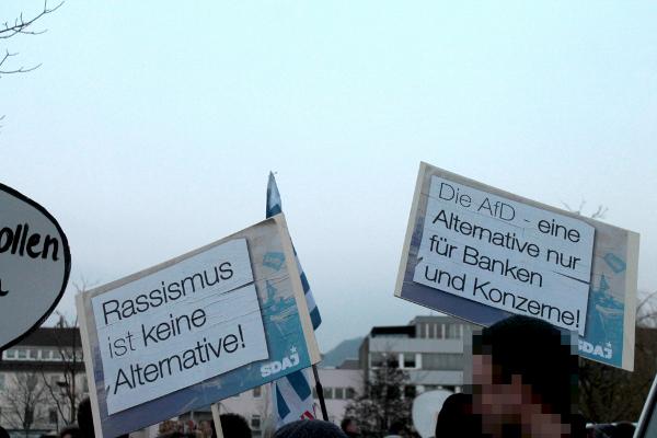 Aktionsbericht: gegen die AfD in Reutlingen!
