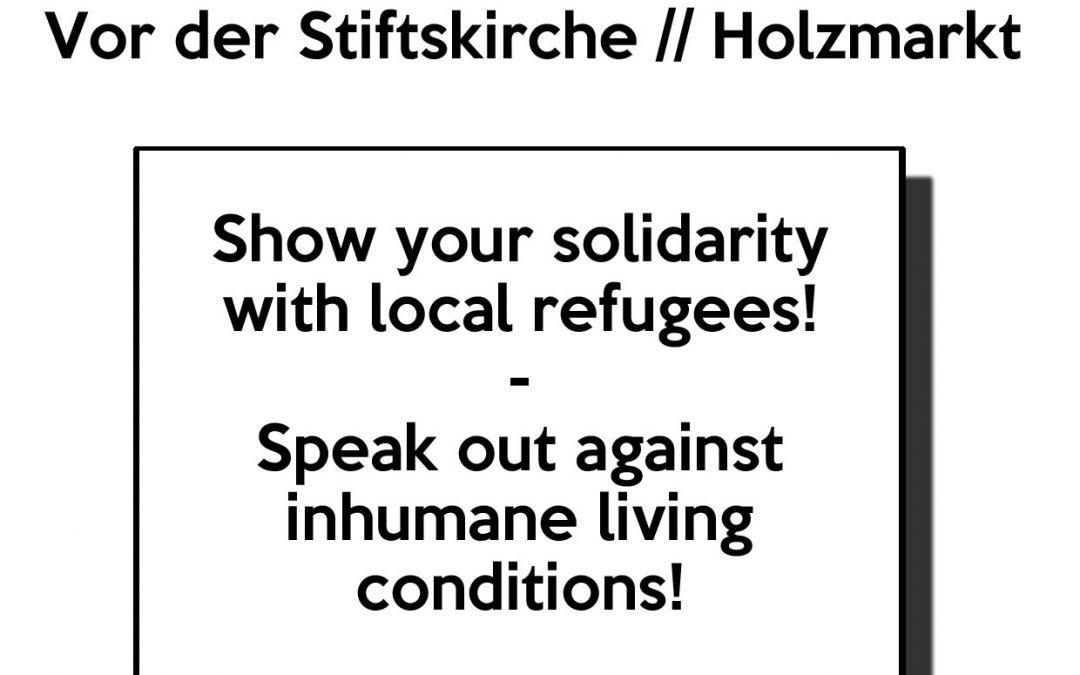 Montag, 20. Juni, 17 Uhr, Holzmarkt: Kundgebung zum internationalen Weltflüchtlingstag