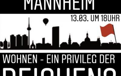 Offener Abend der SDAJ Mannheim: Wohnen – ein Privileg der Reichen?
