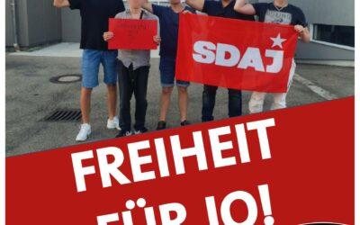 Erklärung der SDAJ Baden-Württemberg: Solidarität mit Jo – Antifaschismus bleibt legitim!