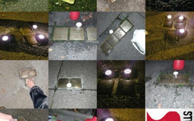 Stolpersteine putzen in Stuttgart