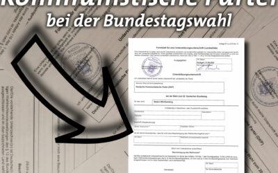 Sammlung von Unterstützungsunterschriften für den Wahlantritt der DKP