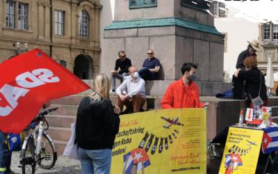 #UnblockCuba Aktion in Stuttgart